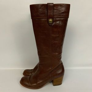 Coach Fayth Brown Leather Knee-High Boots 7M